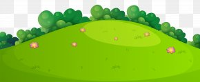 Meadow Grass Ground Clip Art Image - Green Leaf Design Wallpaper PNG