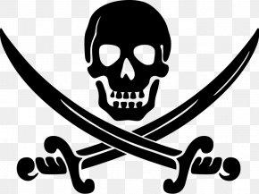 Pirate Flag - Piracy Jolly Roger Logo Clip Art PNG