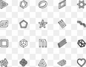 Geometric Shapes - Illusion Drawing PNG