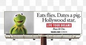 Cartoon Billboard - Kermit The Frog Advertising Billboard Life Television Advertisement PNG