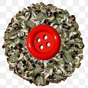 Adjustment Button - Wreath Ribbon Christmas Do It Yourself Paper PNG