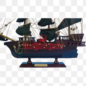 Low Poly Pirate Ship - Queen Anne's Revenge Piracy Jolly Roger Captain Hook Ship PNG