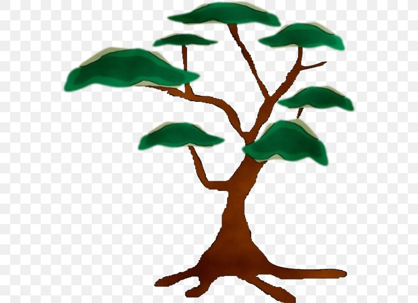 Leaf Plant Tree Plant Stem Flower, PNG, 576x595px, Watercolor, Flower, Houseplant, Leaf, Paint Download Free