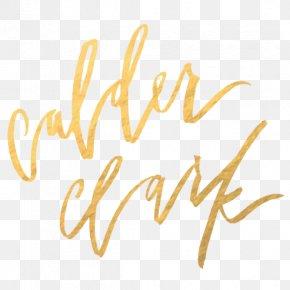 Design - Calder Clark Typography Calligraphy Logo Font PNG