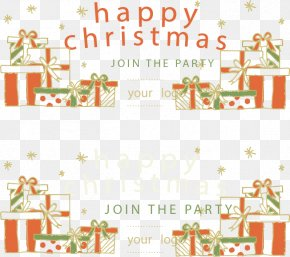 Hand-painted Banners Christmas Gift Heap - Christmas Gift Christmas Decoration Santa Claus PNG