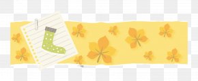 Vector Retro Yellow Paper Torn Socks Small Fresh Leaves - Book Paper Paper Model PNG