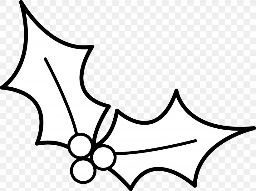 Christmas Common Holly Clip Art, PNG, 5432x4046px, Christmas, Artwork, Black, Black And White, Branch Download Free
