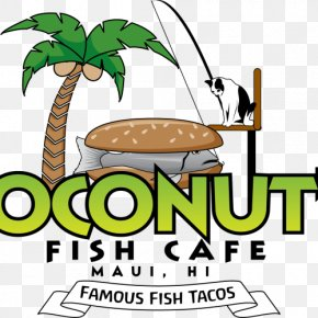 Aloha Luna - Cuisine Of Hawaii Coconut's Fish Cafe Fish And Chips Take-out Taco PNG