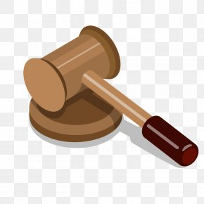 Cartoon Gray Auction Hammer - Judge Hammer Gavel PNG