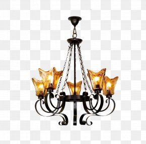 Rome Continental Iron Retro Lamp Lights Pictures - Chandelier Lamp Light Fixture PNG