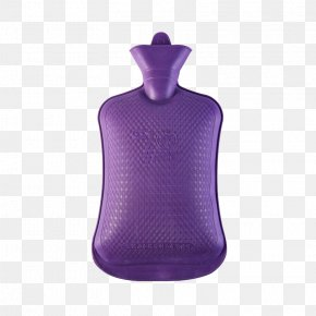 Purple Water Hot Water Bottle - Sleeve Purple Neck PNG