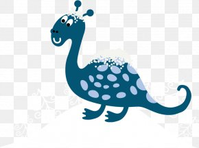 Vector Blue Snow Dinosaur - Tyrannosaurus Shapes FREE Cute Dinosaurs Snow PNG