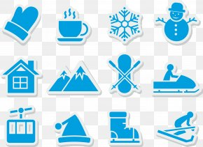 Blue Snowflake Stickers - Lidong Winter Snowflake Icon PNG