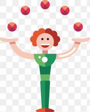 Clown - Circus Juggling Clown PNG