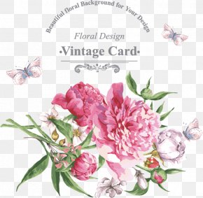Continental Floral Greeting Card - Get-well Card Greeting Card Flower Wish PNG