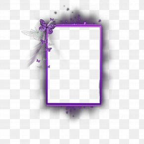 Purple Butterfly Border Template - Product Design Picture Frames Rectangle Font PNG