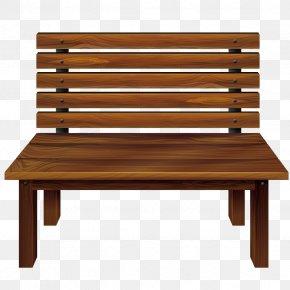 Vector Park Chair - Bench Clip Art PNG