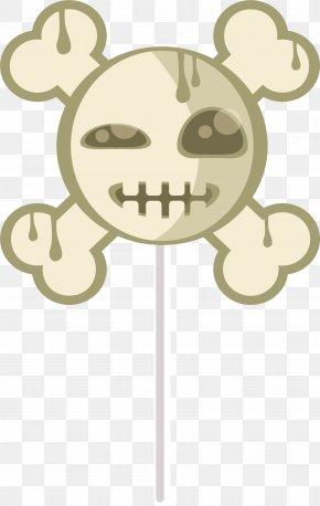 Horror Skull Lollipop - Lollipop Candy PNG