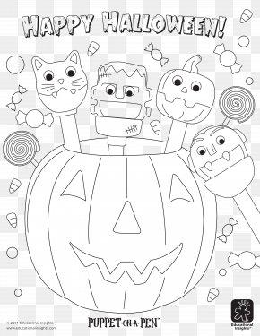 Halloween Cat Coloring Pages - Carnivores Coloring Book Human Behavior Illustration Cartoon PNG