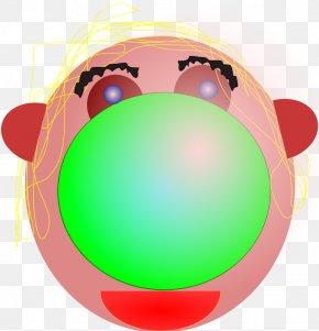 Cartoon Clown Face - Clown Smiley Clip Art PNG