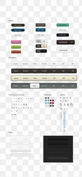 Web Ui Button Design - User Interface Design Widget PNG