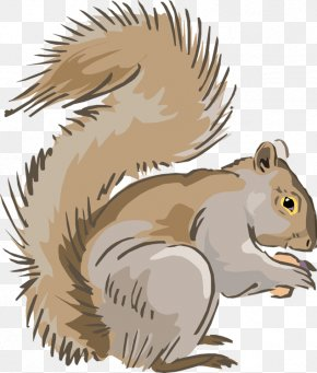 Tribal Squirrel Cliparts - Eastern Gray Squirrel Chipmunk Clip Art PNG