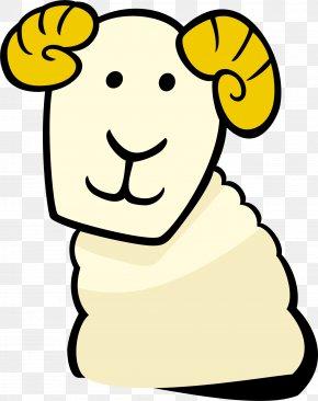 Yellow Cartoon Goat - Goat Cartoon Clip Art PNG