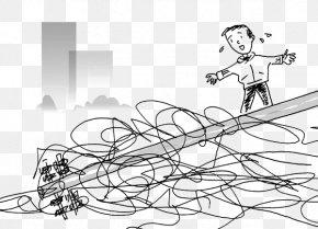 Dangerous High Voltage Lines - High Voltage Overhead Power Line PNG