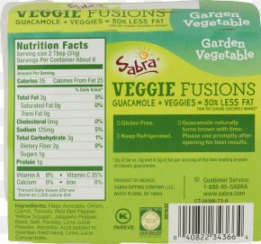 Vegetable - Mixed Vegetable Soup Guacamole Nutrition Facts Label Food PNG