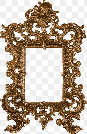 Dragon Mirror Border - Picture Frame Ornament Clip Art PNG