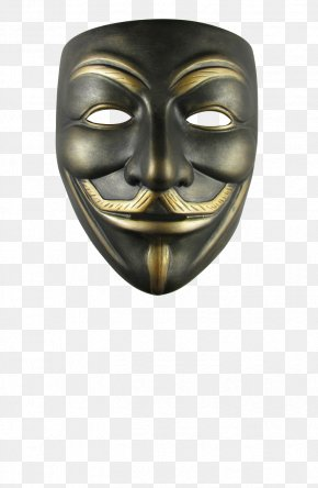 Anonymous Mask - V Guy Fawkes Mask Anonymous Costume PNG