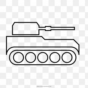 Tank - Drawing Coloring Book Tank Line Art PNG