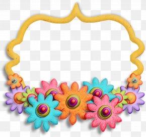 Body Jewelry Film Frame - Flower Background Frame PNG