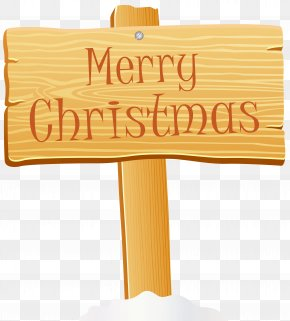 Merry Christmas Wooden Sign Clip Art Image - Christmas Sign Clip Art PNG