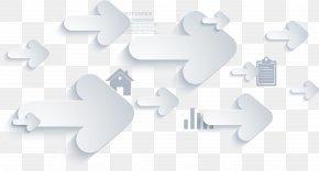 Vector Hand Painted White Arrows - White Arrow Euclidean Vector Diagram PNG