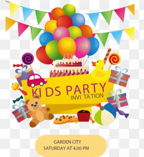 Color Cute Kids Party - Wedding Invitation Birthday Cake Party Balloon PNG