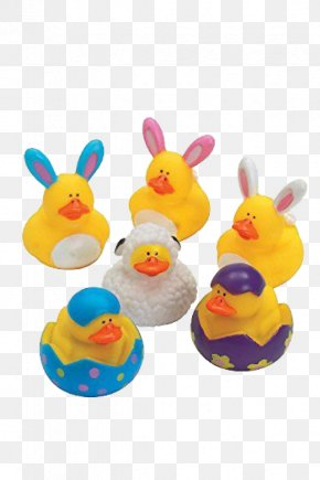 Duck - Rubber Duck Natural Rubber Easter Toy PNG
