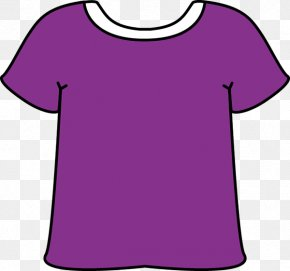 Red Purple Cliparts - T-shirt Sleeve Purple Clip Art PNG