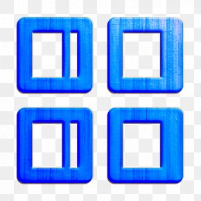Rectangle Electric Blue - Controls Icon Grid Icon Menu Icon PNG