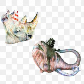 Rhino Elephant Head Material Picture - White Rhinoceros Canvas Print International Rhino Foundation Elephant PNG