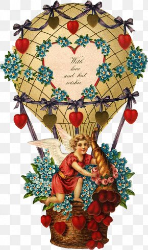 Valentine's Day - Valentine's Day Hot Air Balloon Heart PNG