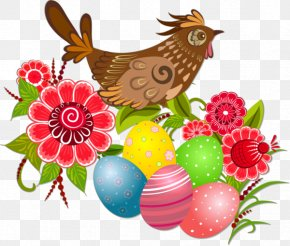 Brown Sparrow - Easter Bunny Easter Egg Illustration PNG