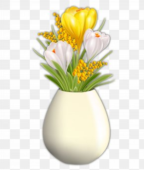 Vase - Floral Design Vase Yellow Flower Rose PNG