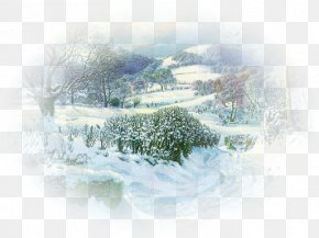 Winter Landscape - Clip Art Image GIF Desktop Wallpaper PNG