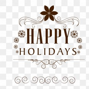 Happy Holidays Vector - Holiday Euclidean Vector PNG