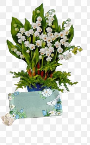 Lily Of The Valley Vase - Lily Of The Valley Floral Design Cut Flowers May Day PNG