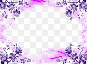 Lavender - Borders And Frames Wedding Invitation Picture Frames Flower Clip Art PNG