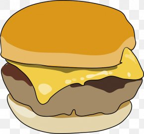 Junk Food - Cheeseburger Hamburger Breakfast Sandwich Clip Art PNG