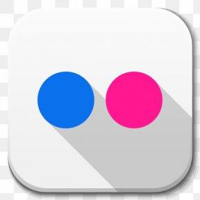Apps Flickr - Circle Magenta Font PNG