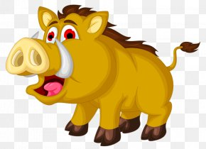Wild Boar Tusks - Wild Boar Animation Illustration PNG